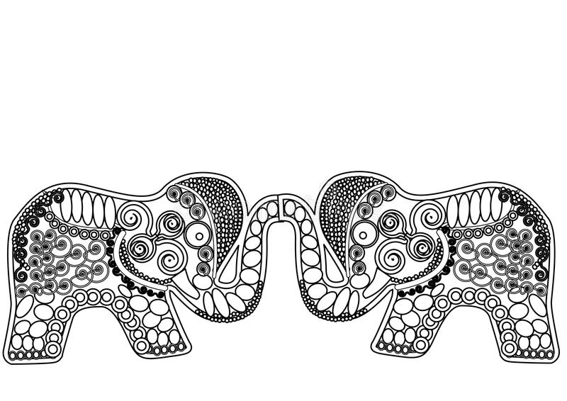 Gevormd olifantengeluk stock illustratie