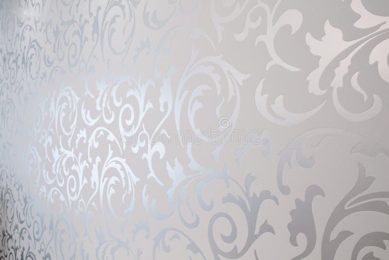 Gevormd zilveren behang vector illustratie