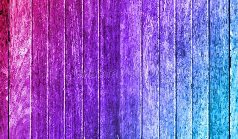 Gevormde houten vloer op kleurrijk stock illustratie