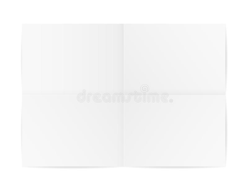 Gevouwen document stock illustratie