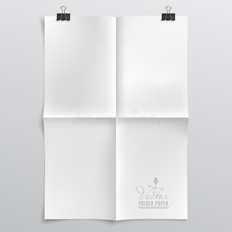 Gevouwen document malplaatje royalty-vrije illustratie
