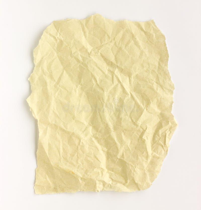 Gevouwen document witte achtergrond. stock fotografie