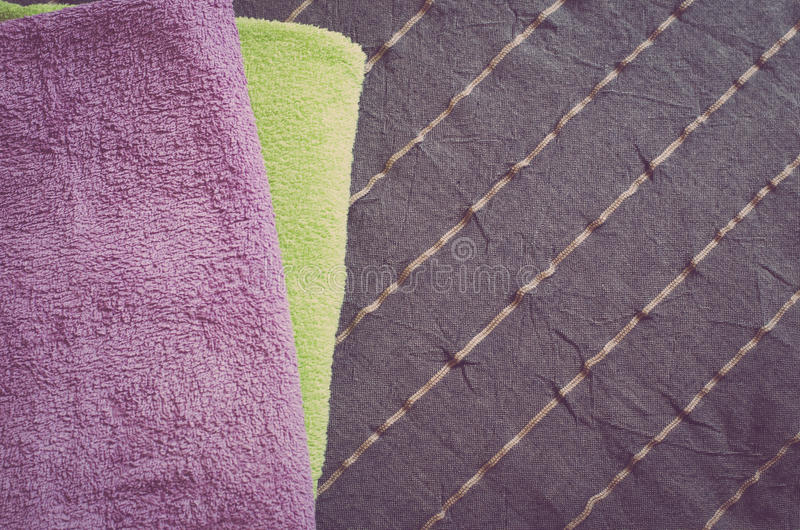 Gevouwen handdoeken stock foto
