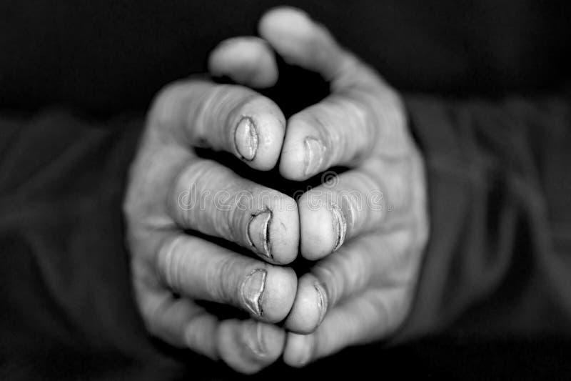 Gevouwen Handen I stock afbeeldingen