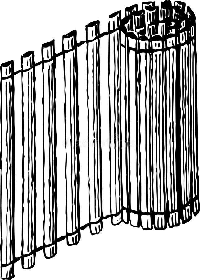 Gevouwen mat stock illustratie