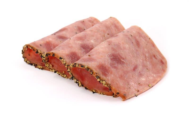 Gevouwen peppered middagmaalbrood stock foto