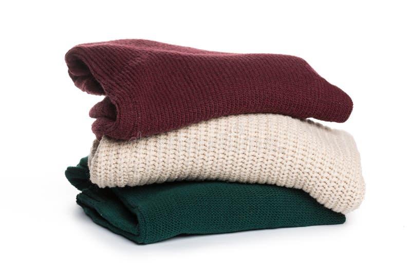 Gevouwen sweater op isolatieachtergrond royalty-vrije stock afbeelding