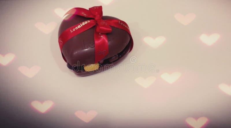Gevuld chocoladehart royalty-vrije stock foto's