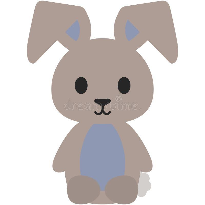 Gevuld Dierlijk Bunny Rabbit Illustration vector illustratie
