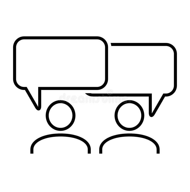 Gevuld gespreks super pictogram Gespreks vectorillustratie voor grafisch ontwerp Gesprekssymbool Vector illustratie royalty-vrije illustratie