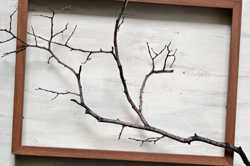 Gevuld houten kader stock foto