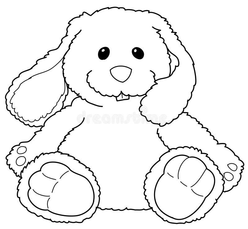 Gevuld konijntje royalty-vrije illustratie