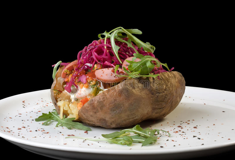 Gevulde Aardappel in de schil stock foto
