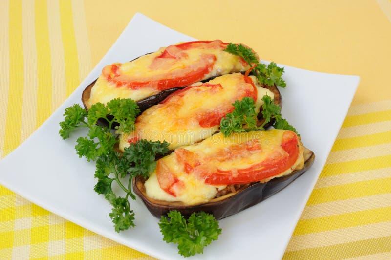 Gevulde aubergine stock fotografie