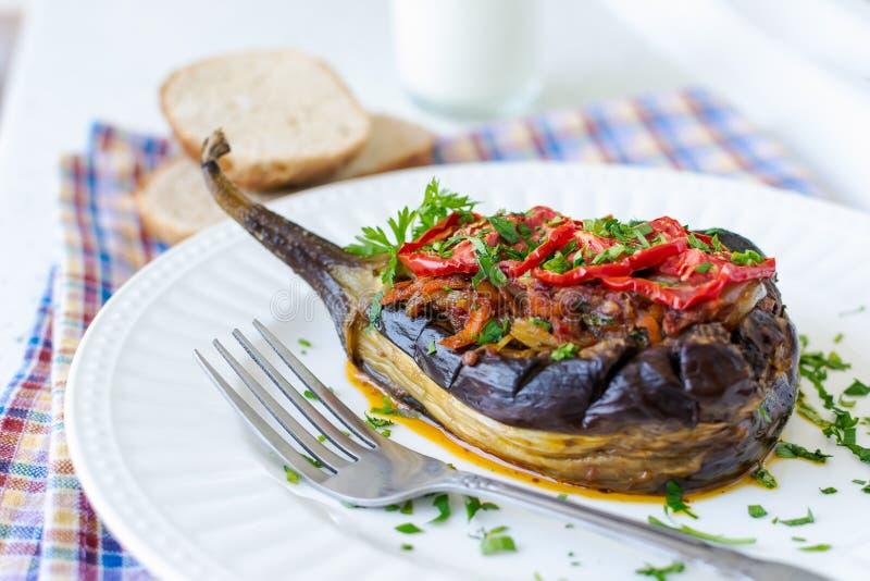 Gevulde aubergine stock afbeelding