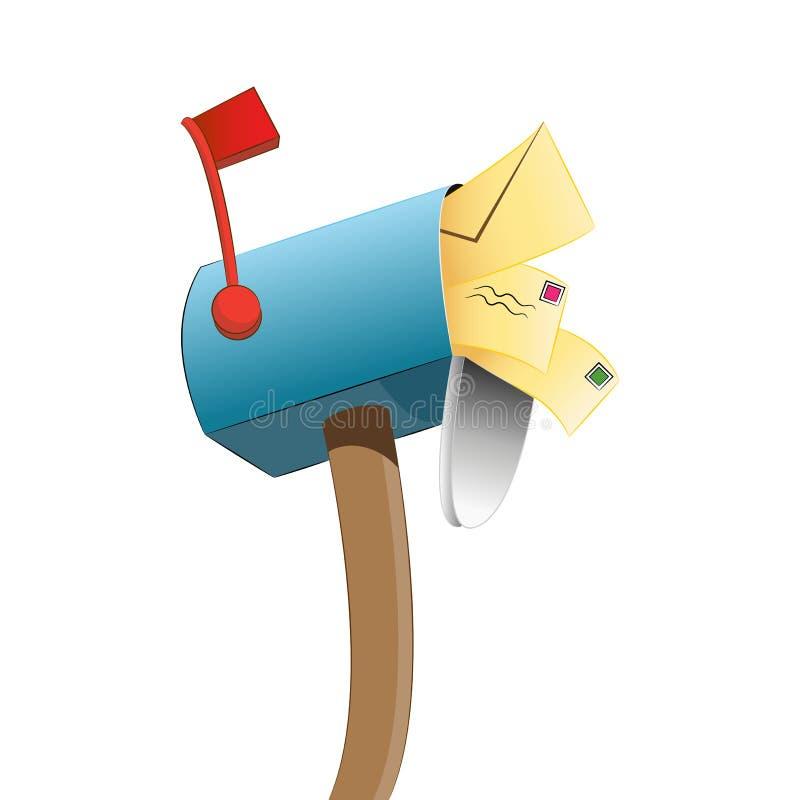 Gevulde brievenbus vector illustratie