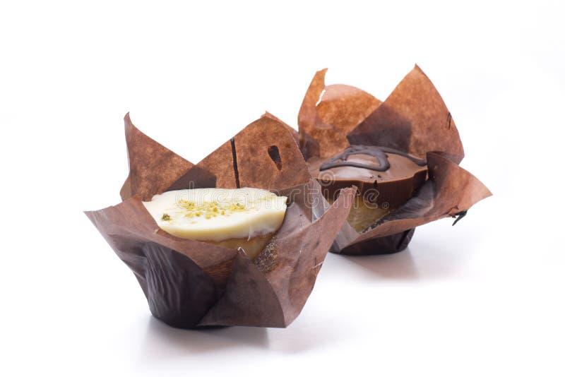 Download Gevulde cupcake twee stock afbeelding. Afbeelding bestaande uit pistache - 54090019