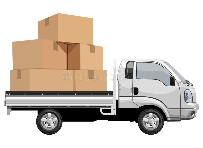 Gevulde vrachtwagen royalty-vrije illustratie