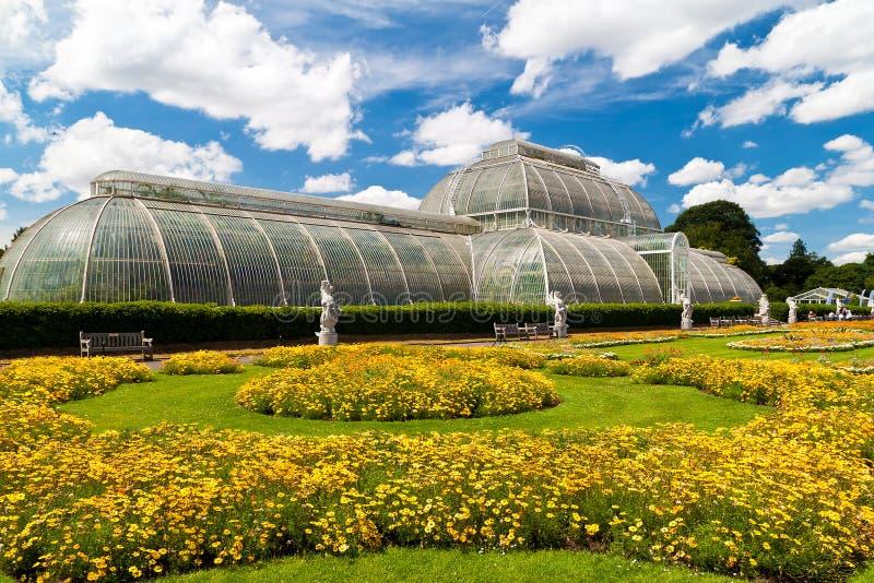 Gewächshaus an den Kew Gärten in London lizenzfreie stockfotos