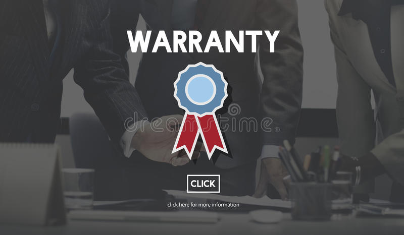Gewährleistungsgarantie-Garantie-Qualitäts-Zertifikat-Konzept stockbilder