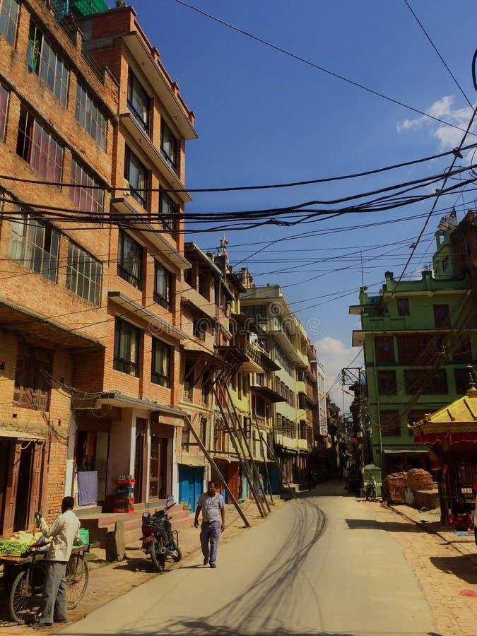 Gewöhnliches Leben in Nepal stockbild