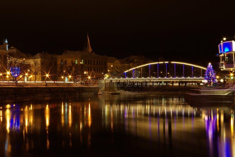 Gewölbte Brücke in Tartu lizenzfreie stockbilder