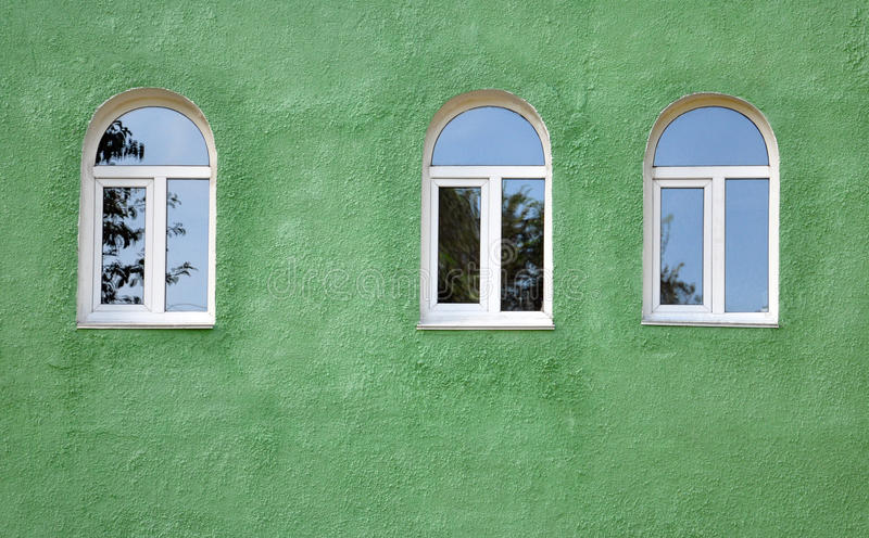Gewölbte Fenster lizenzfreie stockbilder