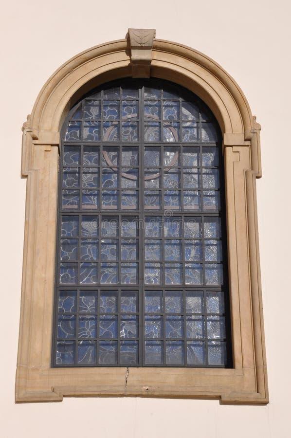 Gewölbtes Fenster stockfoto