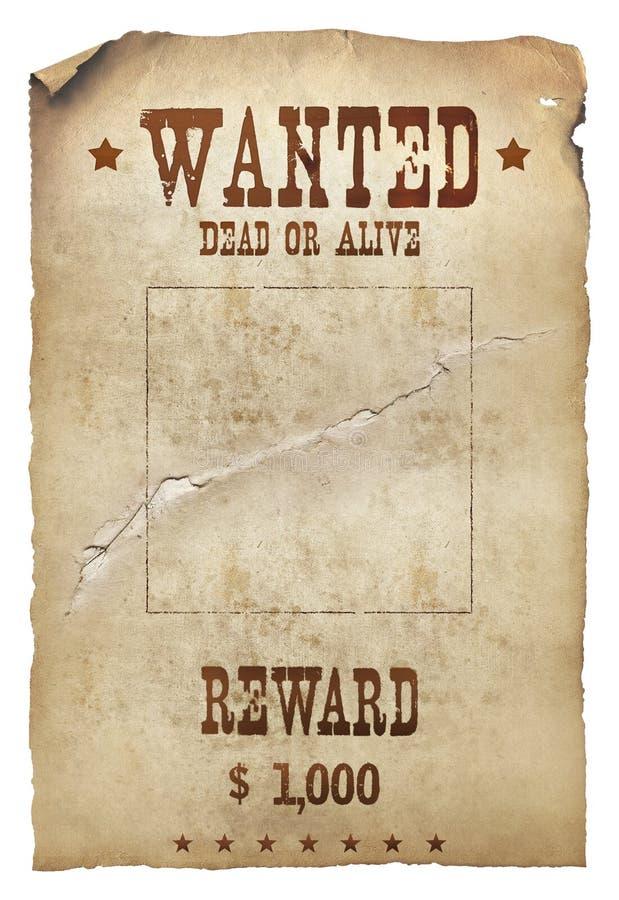 Gewünschte Tote oder lebendig vektor abbildung