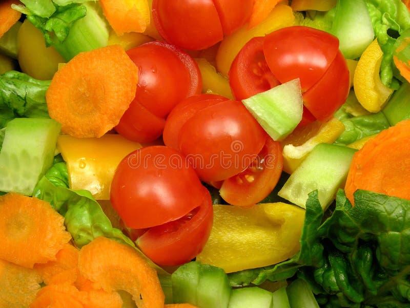 Gewürfeltes und geschnittenes Gemüse stockfoto
