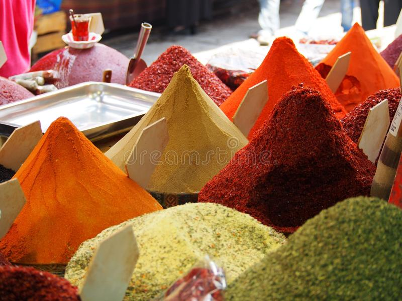Gewürz-Markt - Istanbul lizenzfreie stockbilder