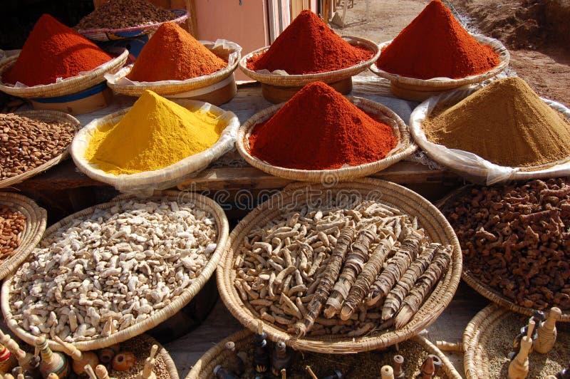 Gewürze von Maroko lizenzfreies stockbild
