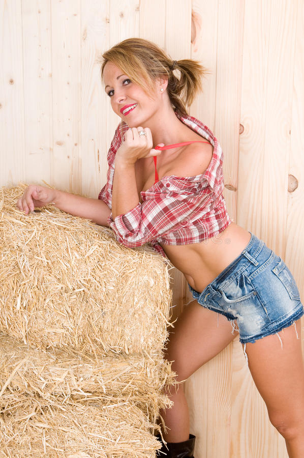Gewürzlandfrau in einem Stall stockbild