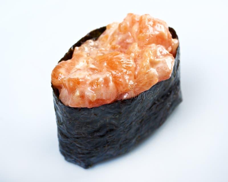 Gewürzsushi mit sauced Scheiben stockfoto