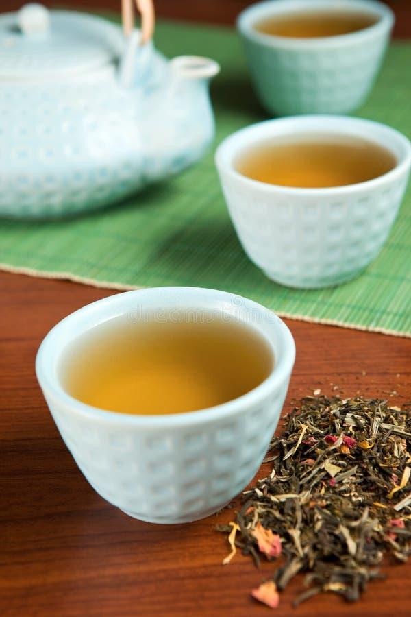 Gewürzter grüner Tee stockfotografie