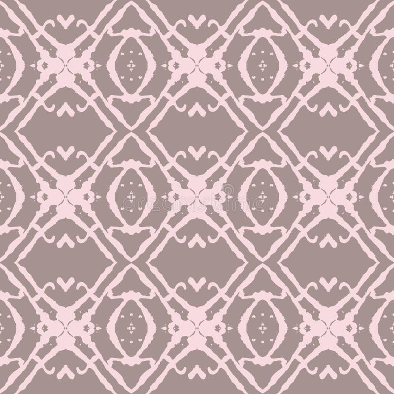 Gewaagd Beige en Roze Naadloos Patroon. royalty-vrije illustratie