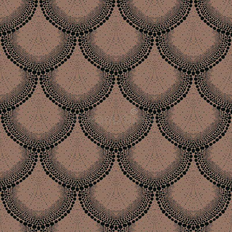 Gewaagd gestippeld ornament in art decostijl vector illustratie