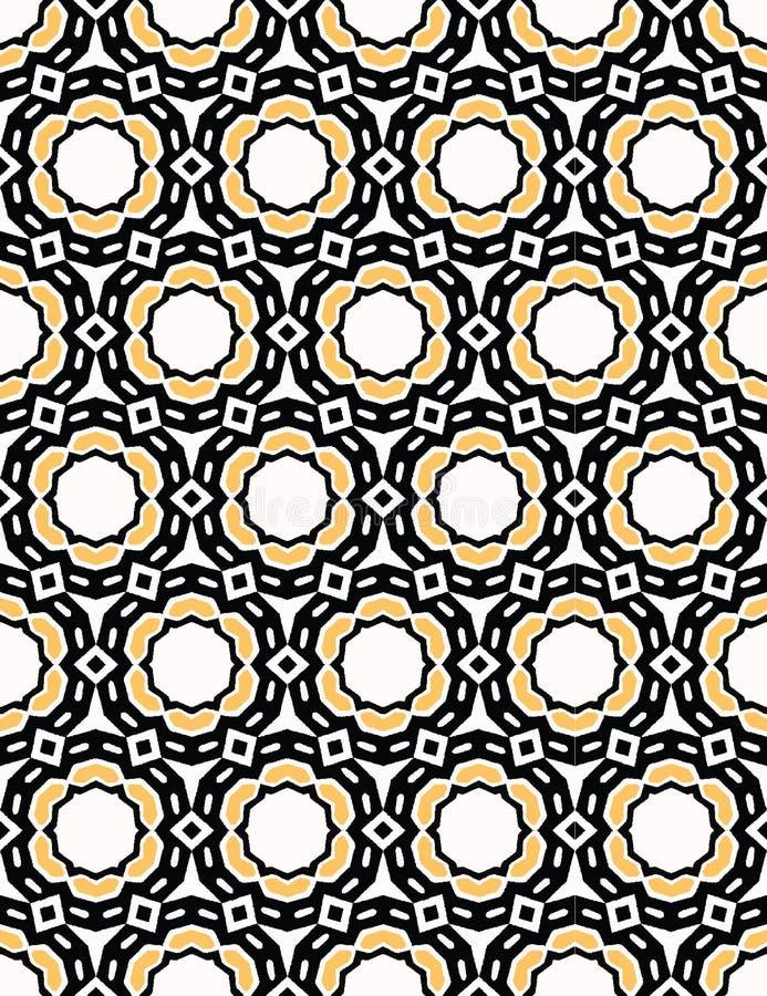 Gewaagd hand getrokken de puntdekbed van de cirkelbloem Vectorpatroon naadloze achtergrond Symmetrie geometrische abstracte illus vector illustratie