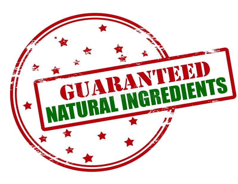 Gewaarborgde natuurlijke ingrediënten stock illustratie