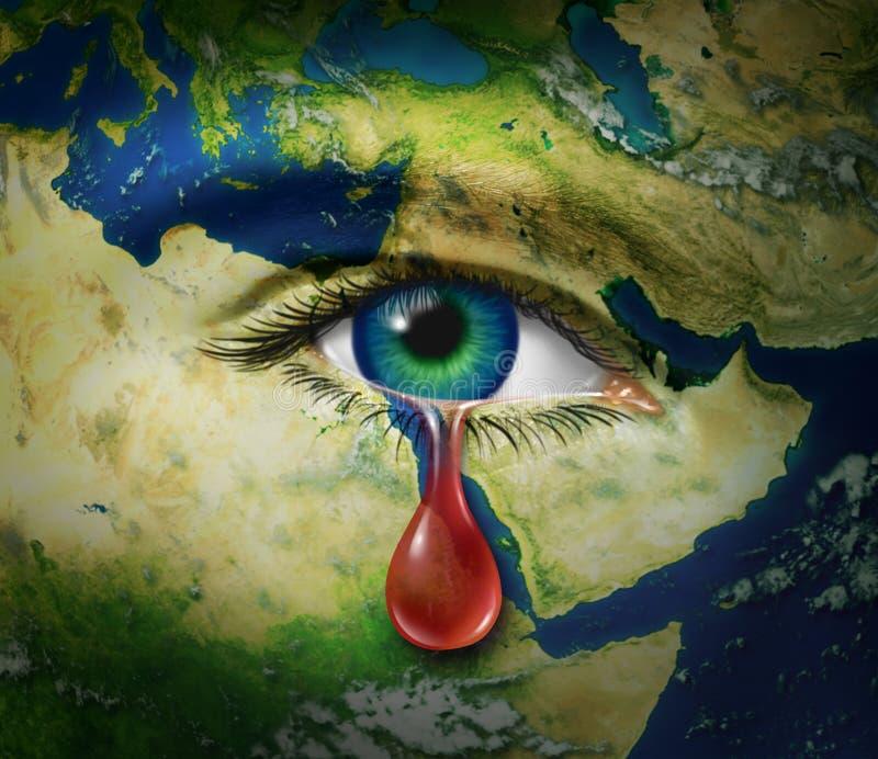 Gewalttätigkeit im Mittleren Osten lizenzfreie abbildung