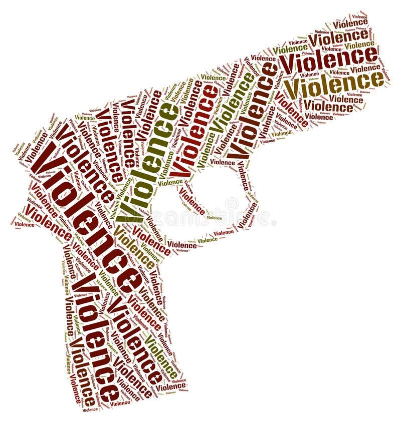 Gewalttätigkeits-Wort zeigt Gewalt und Brutalität an stock abbildung