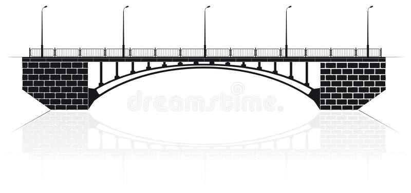Gewapend beton boogbrug in Kiev voor auto's en voetgangers royalty-vrije illustratie