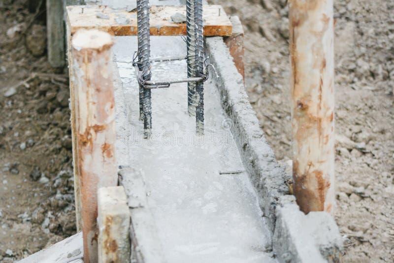 Gewapend beton en staal de structuur van pool voor maakt concrete omheiningsbouw royalty-vrije stock foto's