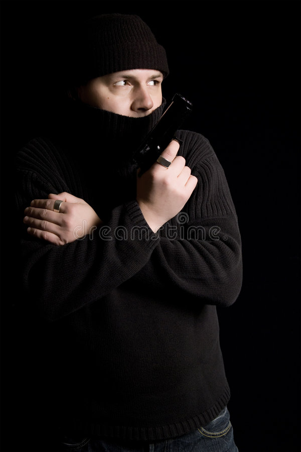 Gewapende gangster royalty-vrije stock foto