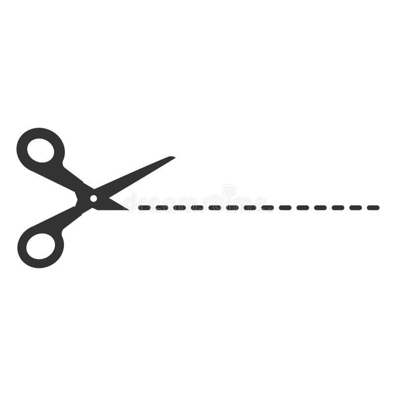 Gewas, pictogram van de besnoeiings het scherpe schaar Vectorillustartion, vlak ontwerp royalty-vrije illustratie