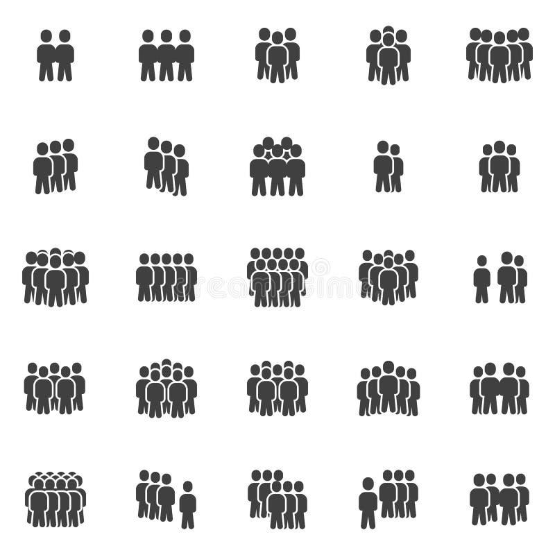 Gewas van mensen vectorpictogrammen reeks stock illustratie