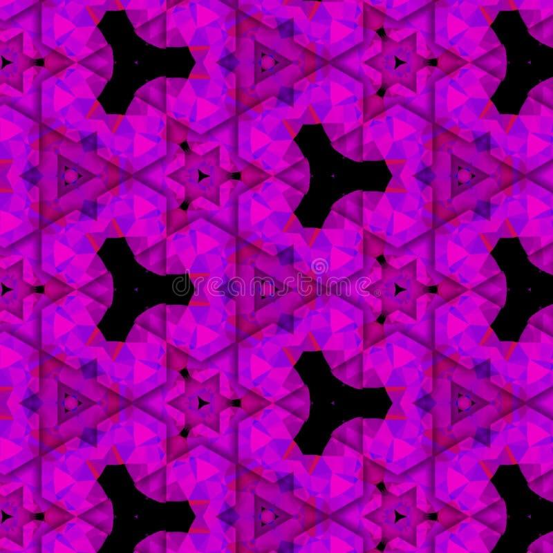 Gewatteerde purpere fractal driehoeken royalty-vrije stock fotografie