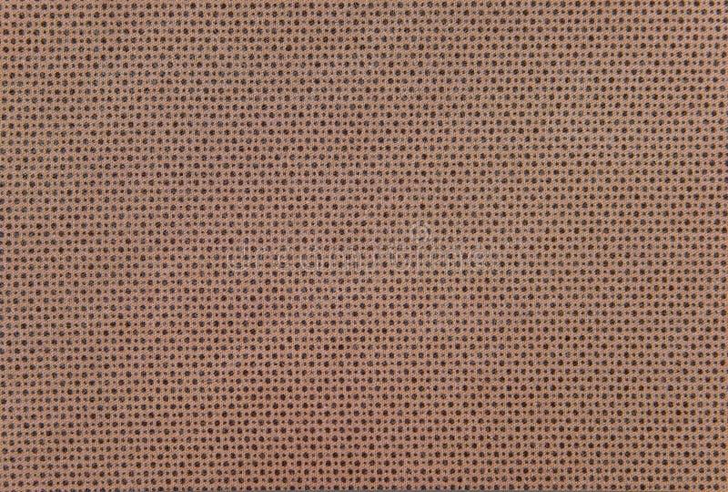 Gewebe-Beschaffenheitshintergrund Browns abstrakter oder Schachbrettmusterleinenstruktur Abstrakte Hintergrund-Abschluss-oben - W lizenzfreies stockfoto