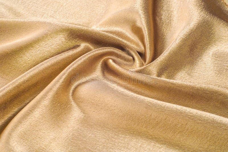 Gewebe gemacht vom metallischen Scheingold des Seidengewebemetallthreads Jus lizenzfreies stockfoto