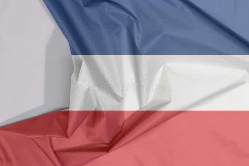 """Gewebe Jugoslawien 1918†""""Krepp und Falte mit 1941 Flaggen mit Leerraum lizenzfreie abbildung"""